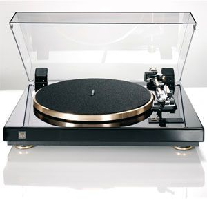 DUAL CS 455 1 M EV Klavierlack schwarz/gold Plattenspieler CS455 1M