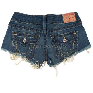 TRUE RELIGION 12 W26 Joey Damen Shorts Pants Frauen NEU