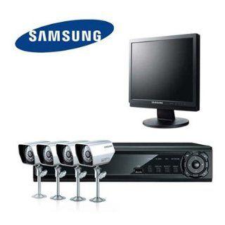 SAMSUNG Videoüberwachung Set 4 Kanal H.264 DVR mit 17 Monitor 4
