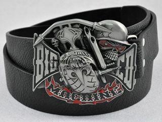 Strike Machine Skull Ghost Devil Boy/Mens Metal Belt Buckle Boucle De