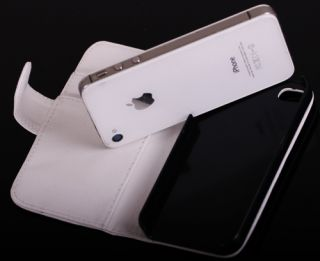 iPhone 4 4G 4S Portmonee Portemonnaie Leder Tasche Hülle Wallet Case