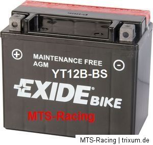 EXIDE SÄURE BATTERIE YT12B BS Ducati Monster 796 ABS M506AB 2010 2012