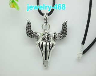 WOW COOL Christmas gift inlay black goat charm fit necklace hot