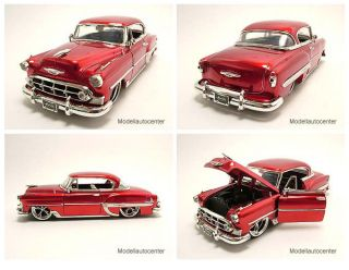 Chevrolet Bel Air 1953 rot, Tuning, Modellauto 124 / Jada Toys