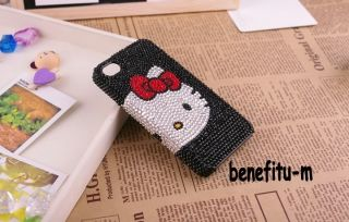 Iphone 4S/4 Hello Kitty bling bling Pearl Crystal case cover