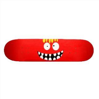 yellow crazy funny cartoon smile face skateboards