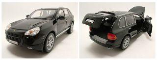 Porsche Cayenne Turbo schwarz, Modellauto 118 / Welly