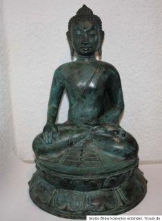 Großer Tibet Bronze Buddha Skulptur Figur Statue Tibetische Sculpture