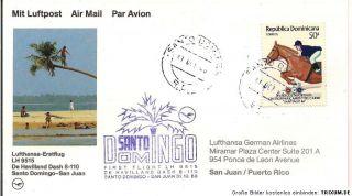 Lufthansa Erstflug LH 9515 De Havilland Dash 8 110 Santo Domingo  San