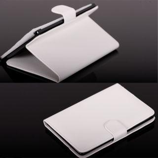 Tasche Hülle Etui Leather Case Cover Schutz Bag Weiß #468
