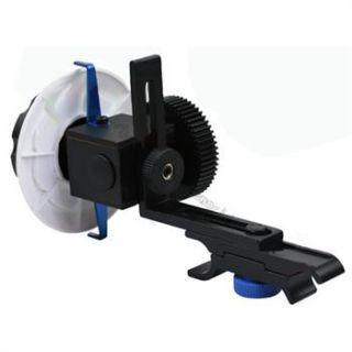 DSLR Rig Follow Focus Gear Ring Belt Lens 15mm Rod für Sony Canon