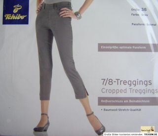 TCM Tchibo 7/8 Damen Hose Treggings Leggings Stretch 36 38 40 Koralle