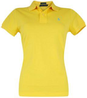 POLO RALPH LAUREN Damen Skinny Fit Polohemd Shirt Bright Yellow