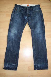 Hugo Boss Orange Jeanshose Denim vintage Hose blue 33x32 #486