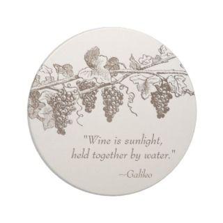 Wine Quote coasters