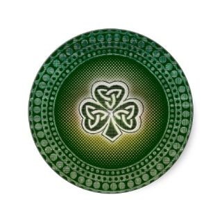 Irish celtic shamrocks stickers