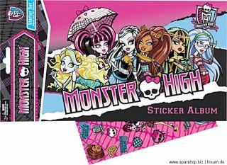 Monster High Sticker Briefchen   Set mit 28 Sticker von IMC   AUSWAHL