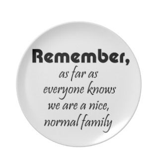 family quotes gifts mom joke quote gift party plates