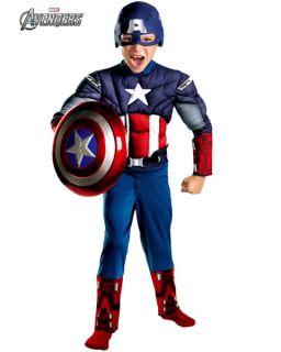 Boys Captain America Avengers Classic Muscle Costume