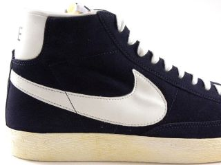 Nike Blazer High Vintage Navy Blue Suede/Gridiron/White Retro Walking