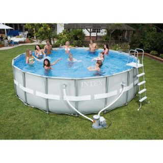 Intex ultra frame Pool 488cm,und Heizung/Abdeckung