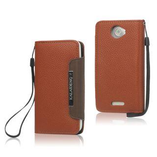 HTC One X Geldbörse / Wallet Case Ledertasche Hülle Etui