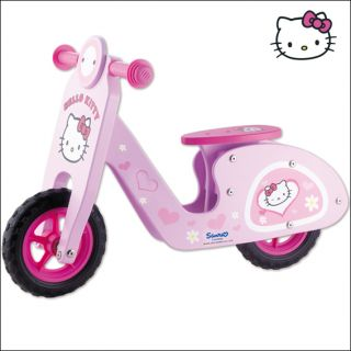 Hello Kitty Laufrad 72 x 36 x 50 cm Kinder Holzlaufrad _ Holz _ Roller