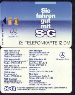 492/93 Mercedes Benz S&G leer/used 1000 Ex