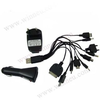 10in1 Universal Handy Ladegerät Netzteil USB KFZ
