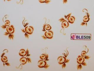 Nail Art Sticker Tattoo One Stroke BLE 509 hellbraun