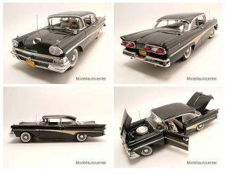 Ford Fairlane 500 Hardtop 1958 schwarz, Modellauto 118 / Sun Star