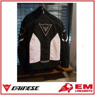 Jacke Motorrad Dainese Racing Tex Antracite Bianco 54
