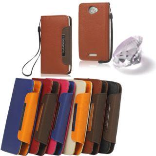 Portemonnaie Handy Leder Tasche Hülle Case Etui XL Creme 498
