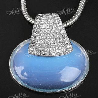 Opal Opalite Edelstein Perlen Anhänger charm Pendant