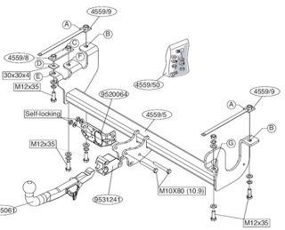 Anhängerkupplung abnehmbar Suzuki Jimny 98  + 13pol ES