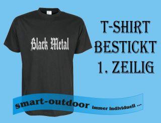 Shirt Shirt Black Metal Haevy Metal bestickt MC Club