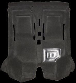 Innenteppich, Formteppich für Fiat 500 F L R schwarz Velours