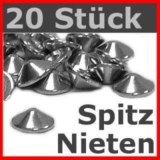 20 Stück Spitznieten 4mm / Gothic Punk Metal Biker Larp
