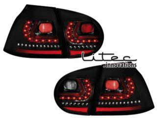 LITEC LED Rückleuchten VW Golf 5 V 03   09 schwarz R   LOOK