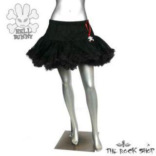 Hell Bunny kurzer Petticoat   Schwarz