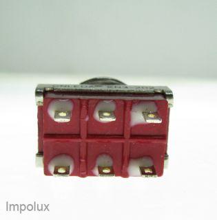 SUB Miniatur Kippschalter 2polig Ideal für LED LEDs Chrom EIN/EIN