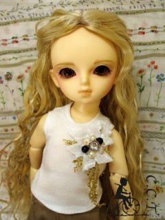Yo SD Super Dollfie BJD outfit White vest w/ bead