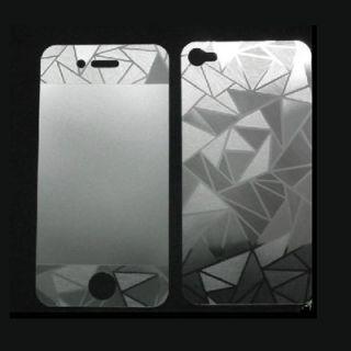 iPhone 4 4G 4S Full Screen Display Schutzfolie Folie 3D Diamond Front