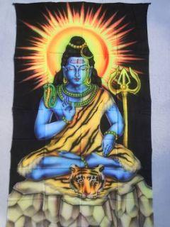 Airbrush Wandbild Wandbehang Tuch Shiva Dreizack Gott Indien Bild