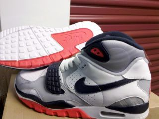 DS Nike Air Trainer SC 2 QS Infrared ii white grey max 90 sz 8 8.5