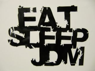 EAT SLEEP JDM Aufkleber Sticker, 13x10cm, drift, shocker, tuning