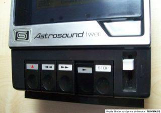 ASTROSOUND twen Cassettenrecorder Portable Cassette Tape Recorder 1977