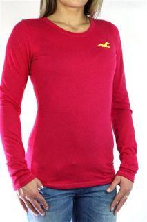 Hollister Longsleeve T Shirt Damen A&F rot NEU Gr.M 38