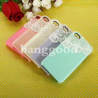 iPhone 4 4S Cute Pearl Lace Ice Cream Hard Back Case Cover Screen