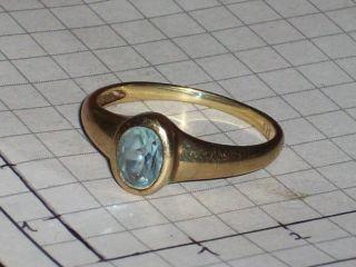 Echt Gold 333 Ring mit weißem Stein 18 mm Durchmesser 1,8 Gramm